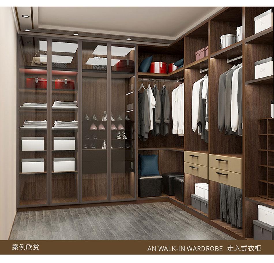 固诺家居全屋定制港式客厅后现代衣柜轻奢样板房全屋定制家具